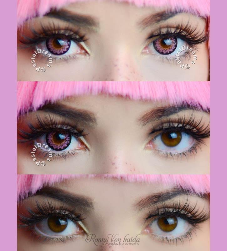daisy g325 pink circle lenses by eos kawaii eyes,dolly eyes,cosplay lenses