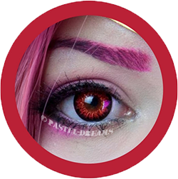 EOS g-325 mimi red colored lenses, colored contact lenses cosplay lenses, circle lenses, colored contacts, costume lenses