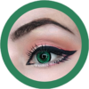 dolly 209 green circle lenses by eos, contact lenses, cosplay lenses,korean lenses, uk retailer, colored lenses,dolly eyes. big eyes