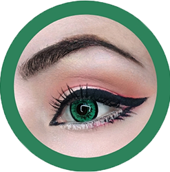 dolly 209 green circle lenses by eos, contact lenses, cosplay lenses,korean lenses, uk retailer, colored lenses,dolly eyes. big eyes