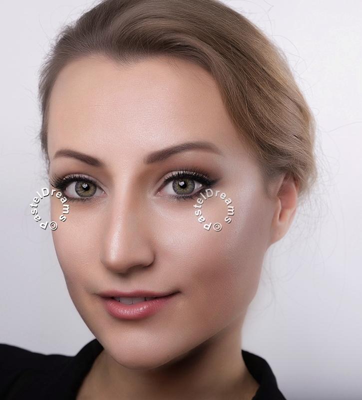 G-321 EOS gray colored contact lenses 3tone, Circle lenses dolly eyes, big eyes