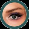Enhance your look with the vivid Marine green colored lenses by Freshtone Premium range