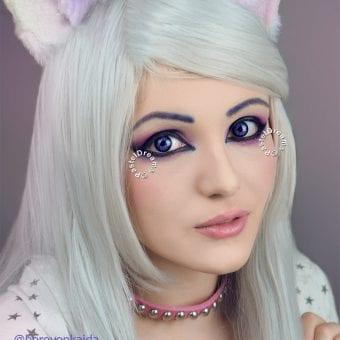 belladona violet colored contact lenses
