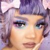 cosplay violet lenses, colored lenses, korean lenses, black ring violet lenses