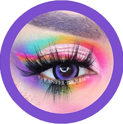 cosplay violet lenses, colored lenses, korean lenses, black ring violet lenses