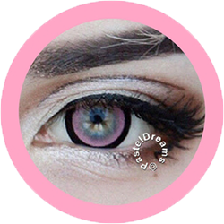candy pink 208 EOS circle lenses colored contact lenses dolly eyes big eyes kawaii eyes lolita