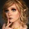 cats eyes brown colored contact lenses, circle lenses by eos korean lenses, cosplay
