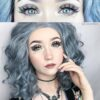 cats eyes gray colored contact lenses, circle lenses by eos korean lenses, cosplay