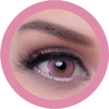 cats eyes pink colored contact lenses, circle lenses by eos korean lenses, cosplay