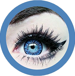 blue colored lenses, ice flower cow colored contact lenses