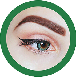 daisy g-325 green colored circle contact lenses by eos model nika mestrovic