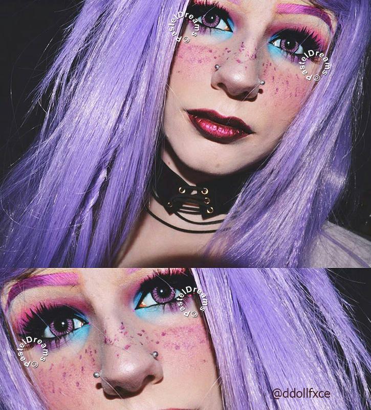ddollfxce pink fay lenses