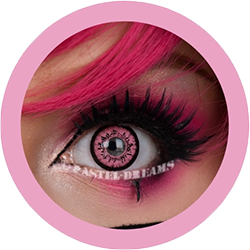 dolly pink V-209LB colored contact lenses by eos circle lenses big eyes dolly eyes