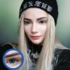 daisy g-325 blue colored circle contact lenses by eos model @missanthropicon