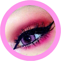 fay pink colored lenses, cosplay lenses,dolly eyes, costume lenses by eos korean lenses