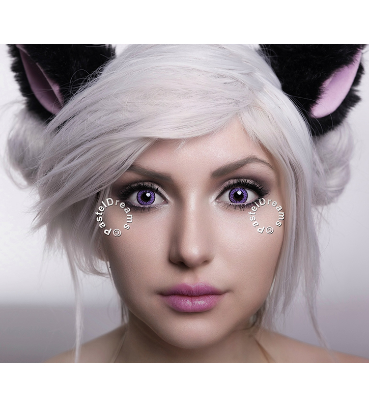 fay violet colored lenses, cosplay lenses,dolly eyes, costume lenses by eos korean lenses