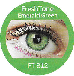 freshtone emerald green cosmetic colored contact lenses