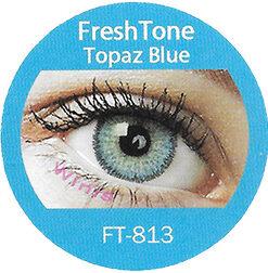 freshtone topaz blue cosmetic colored contact lenses