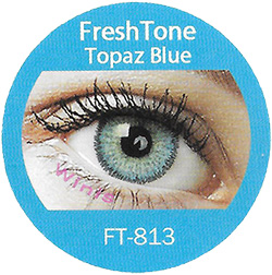 freshtone topaz blue cosmetic colored contact lenses