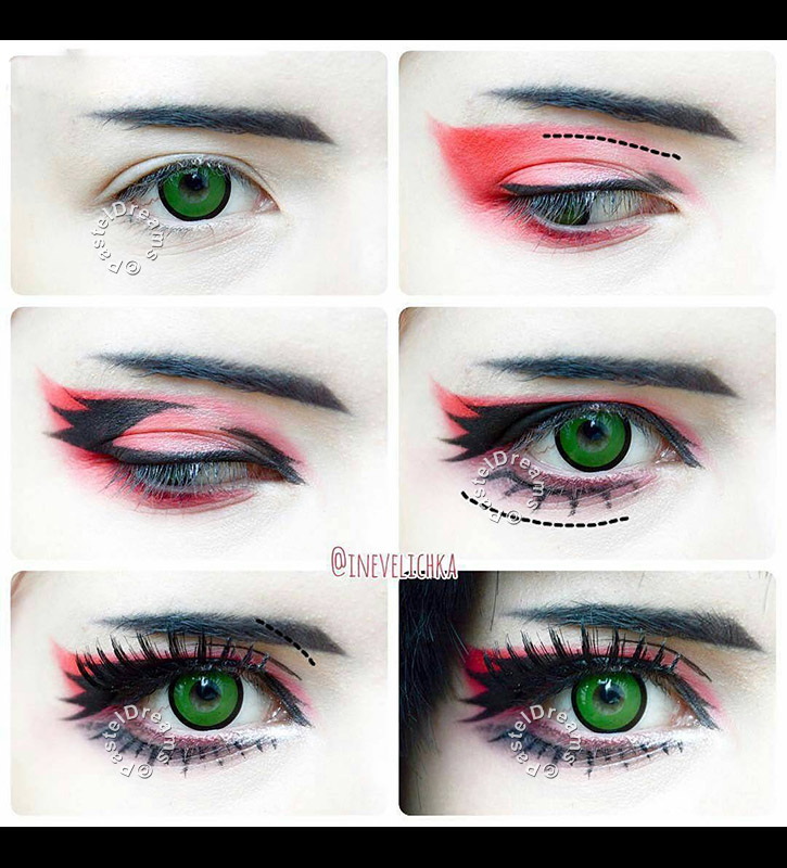 green manson Cosplay lenses #ranmao #ranmaocosplay #blackbutler #blackbutlercosplay #kuroshitsuji #kuroshitsujicosplay #cosplaymakeup #animemakeup #cosplaymakeuptutorial #dollystyle #dollymakeup #makeuptutorial