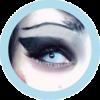 husky white blue costume colored lenses, halloween lenses, crazy lenses