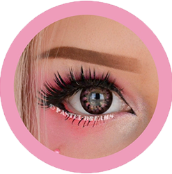 eos my honey pink colored contact lenses cosplay lenses, circle lenses, colored contacts, costume lenses