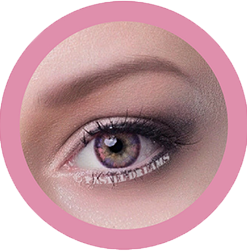 EOS pastel pink colored contact lenses cosplay lenses, circle lenses, colored contacts, costume lenses