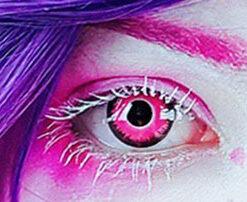 @ronnyvonkaida crazy lenses colored Contact lenses ➡ pink demon by @pasteldreamsuk . #photoshoot #valentinemakeup #valentinetheme #horns #whitedress #purplehair #pink #flowers #photography #fantasymakeup #fantasyshoot #kawaii #pinklenses #pasteldreamsuk #pastelgoth #cosplayer #coloredlenses #contactlenses #circlelenses #creepycute