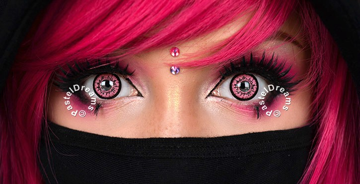 dolly pink colored contact lenses by eos circle lenses big eyes dolly eyes model suezochan