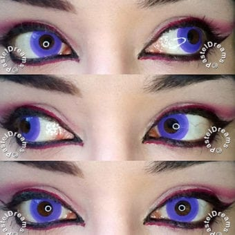 purple out crazy colored contact lenses