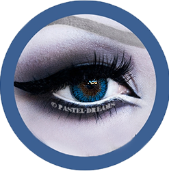 rainshower blue contact lenses colored lensed eos, korean, natural look model nanathelilitu
