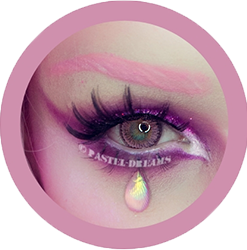 rainshower pink contact lenses colored lensed eos, korean, natural look model Moth Queen Makeup