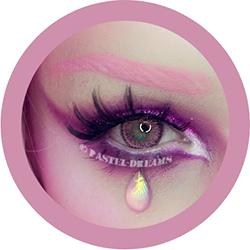 rainshower pink contact lenses colored lensed eos, korean, natural look model Moth Queen Makeup