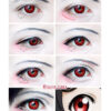 red manson colored contact lenses, halloween lenses, crazy lenses, red contacts, vampire eyes,theatrical lenses