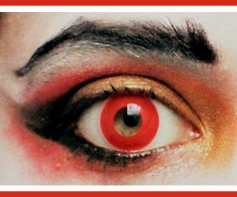 red out contact lenses crazy lenses by GEO
