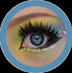 eon sunflower blue colored contact lenses cosplay lenses, circle lenses, colored contacts, costume lenses