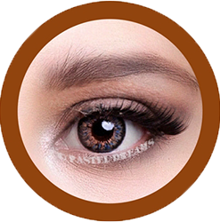 eos sunflower brown colored contact lenses cosplay lenses, circle lenses, colored contacts, costume lenses