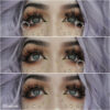 trashiiie wearing pastel-dreams eos circle colored contact lenses in gray color series daisy g-325