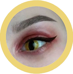 yellow cat theatrical lenses, colored contact lenses cosplay lenses, circle lenses, colored contacts, costume lenses, halloween lenses