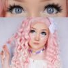 ice II violet EOS circle lenses colored contact lenses dolly eyes big eyes kawaii eyes lolita