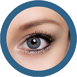 Freshtone blends Caribbean Blue colored contact lenses cosmetic lens natural lenses korean lenses