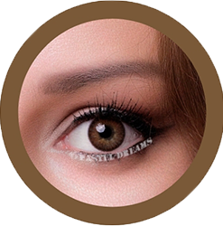 freshtone BLENDS brown cosmetic colored contact lenses, natural lenses,