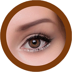 freshtone blends chestnut brown cosmetic colored contact lenses, natural lenses,