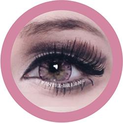 ice II pink EOS circle lenses colored contact lenses dolly eyes big eyes kawaii eyes lolita