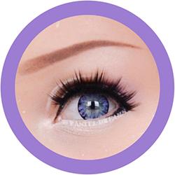 ice II vIolet EOS circle lenses colored contact lenses dolly eyes big eyes kawaii eyes lolita