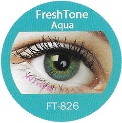 Freshtone blends aqua colored contact lenses cosmetic lens natural lenses korean