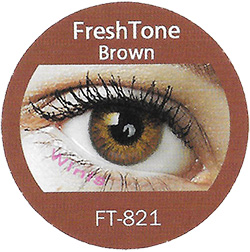 Freshtone Blends Brown colored contact lenses