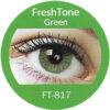 freshtone blends green colored contact lenses