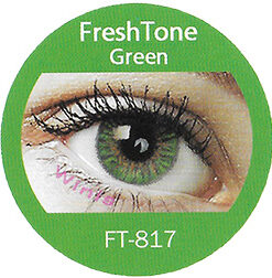 freshtone blends green colored contact lenses