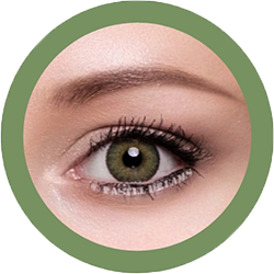 freshtone blends green cosmetic contact lenses, circle lenses, colored contacts